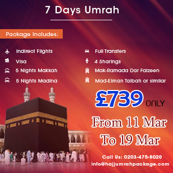 7 Days Umrah Packages in March