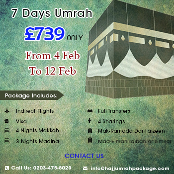 7 Days Umrah Packages in February