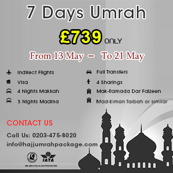 7 Days Umrah Packages in May